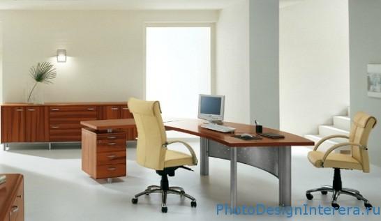 Дизайн интерьера офиса с офисной мебелью фото
