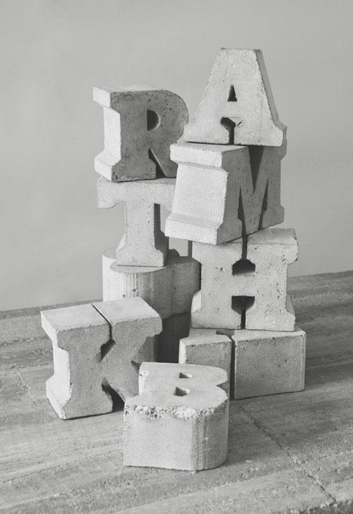 Объемные буквы для интерьера своими руками