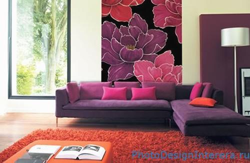 Дизайн интерьера гостиной фото. Обои в гостиной фото