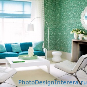 Интерьера гостиной в ретро стиле фото