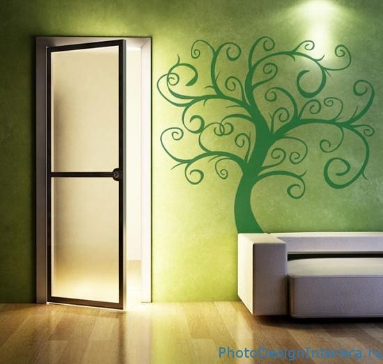 Дизайн обоев для гостиной фото