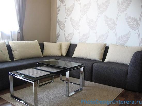 Дизайн комнаты обоями фото