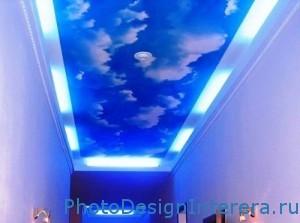 Дизайн обоев на потолке в прихожей фото