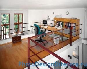Дизайн интерьера домашнего офиса на чердаке фото