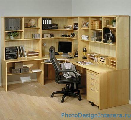 Дизайн интерьера маленького домашнего офиса фото