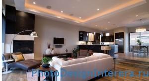 Дизайн освещения в гостиной фото
