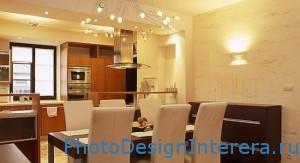 Дизайн освещения на кухне фото