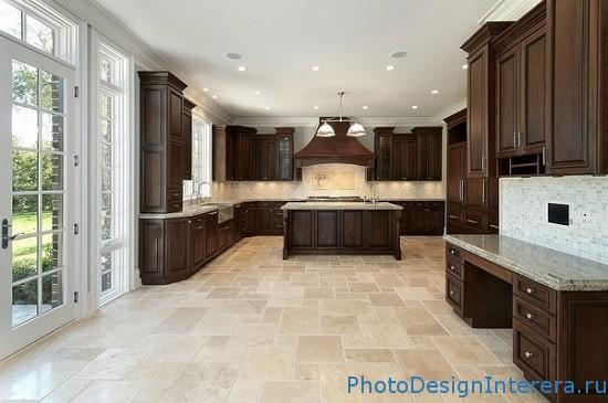 Плитка в дизайне интерьера кухни фото