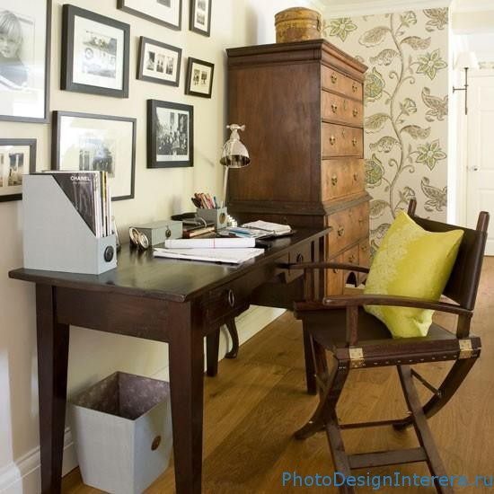 Дизайн интерьера домашнего офиса фото