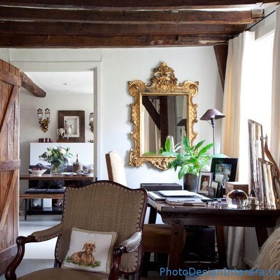 Дизайн интерьера богатого домашнего офиса фото