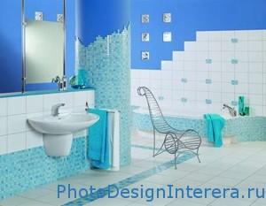 Бирюзовый цвет в дизайне интерьера ванной фото