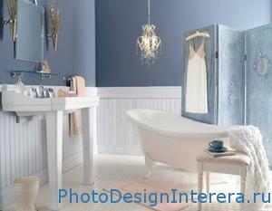 Синий цвет в дизайне интерьера ванной комнаты фото