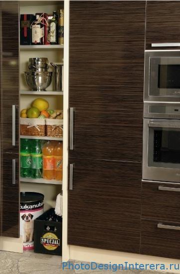 Встроенные полочки на кухне фото