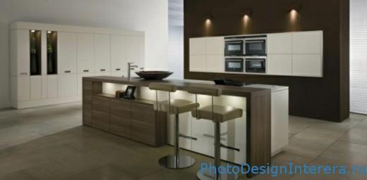 Дизайн интерьера современной большой кухни фото