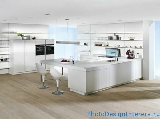 Роскошный дизайн интерьера большой кухни фото