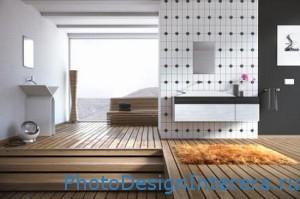 Современный дизайн ванной комнаты с душевой кабиной фото
