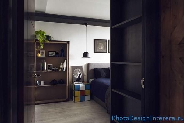 Полки в дизайне интерьера спальни