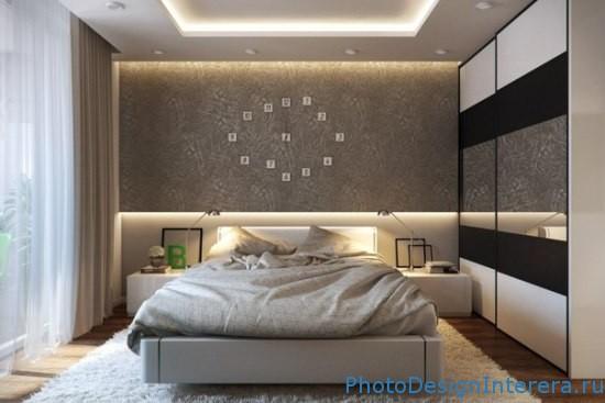 Дизайн спальни с часами фото