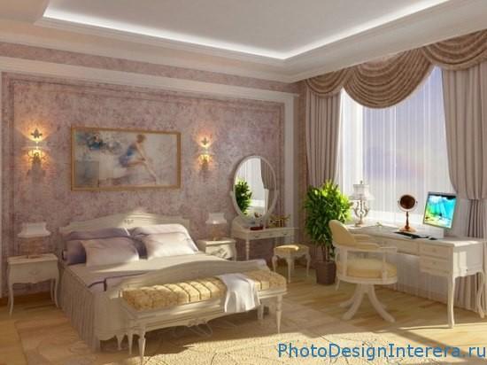 Дизайн спальни с цветами фото