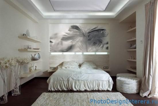Дизайн спальни с нежным стилем фото