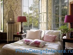 Дизайн спальни с торшерами фото