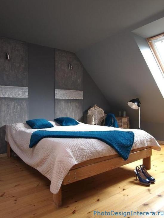 Серый цвет в дизайне интерьера спальни фото