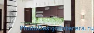 Декоративное стекло на кухне фото