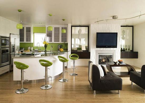 Стиль хай-тек в гостиной:фото