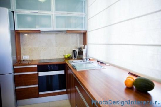 Деревянные столешницы на кухне фото