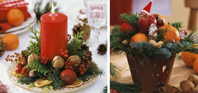 Украшение новогоднего стола (фото)