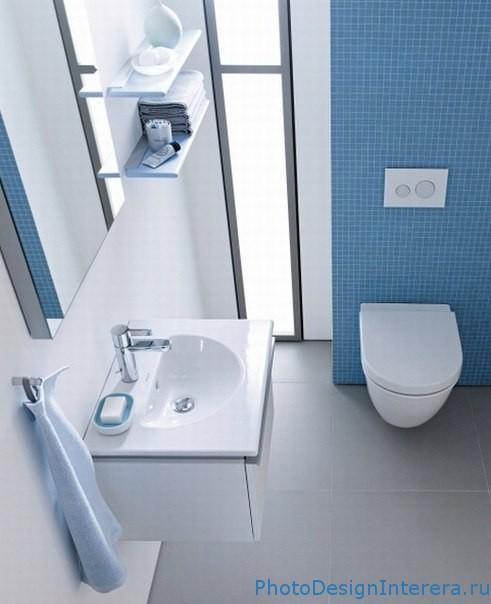 Обустройство интерьера тесной ванной комнаты
