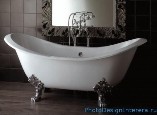Чугунная ванна в ванной фото
