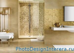 Дизайн стильной ванной комнаты с душевой кабиной фото