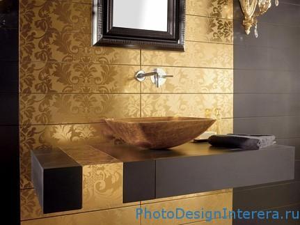 Роскошный дизайн интерьера ванной комнаты фото