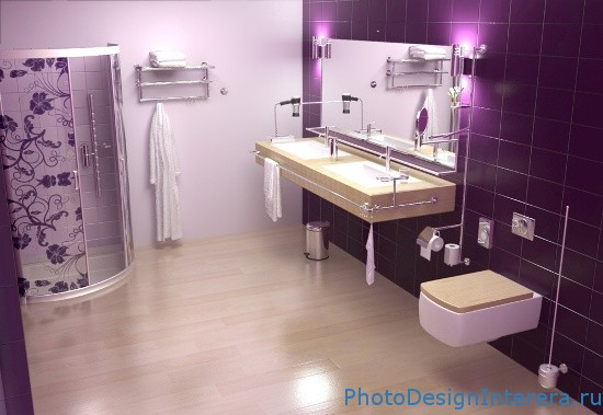 Дизайн ванной комнаты с навесным туалетом фотографии