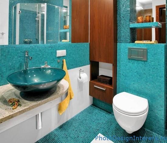 Дизайн ванной комнате в голубых тонах фото