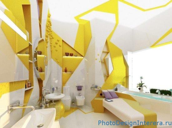 Ванная комната в желтом цвете фото