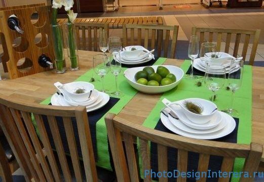 Дизайн интерьера кухни в весеннем стиле фото