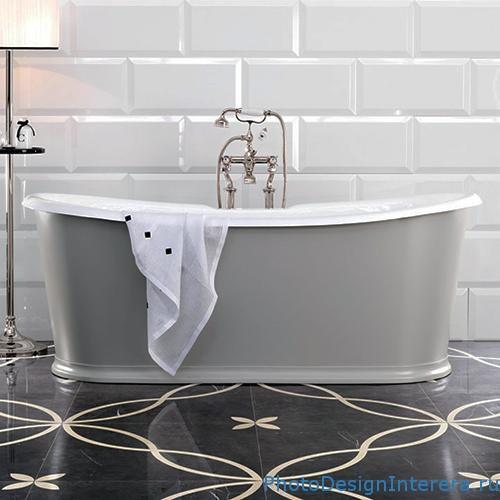 Дизайн ванной комнаты с современной плиткой