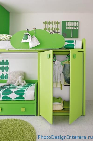 Шкаф для вещей в детской комнате фото