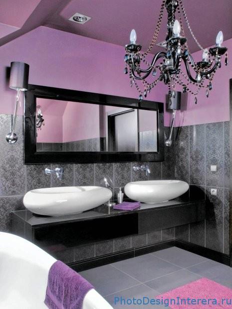 Как увеличить ванную комнату при помощи зеркала?