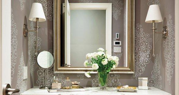 Жидкие обои в ванную комнату: фото и  как правильно наносить