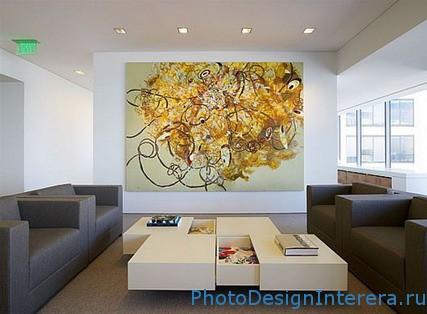 Живопись в интерьере комнат фото