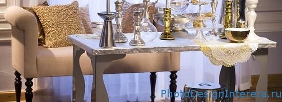 Золото в дизайне интерьере кухни фото
